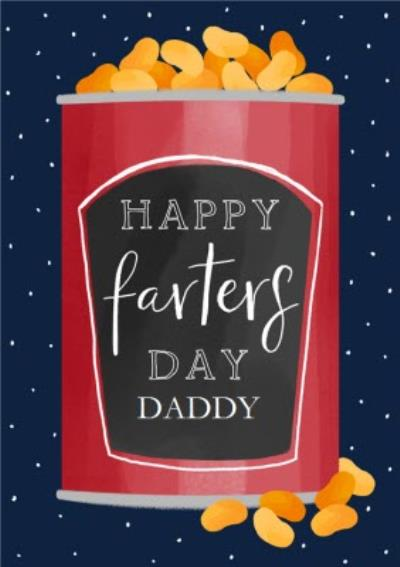 Daddy Happy Farters Day Baked Beans Father's Day Card