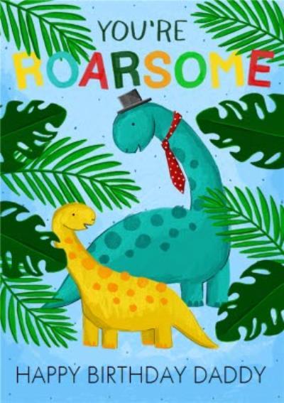 Cute Dinosaur Illustration Cheers Birthday Card