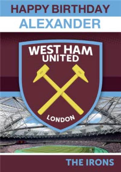 West Ham United - Birthday Card