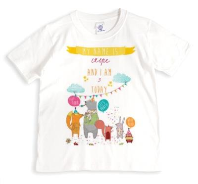 Woodland Party Personalised T-shirt