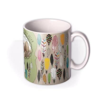 Feather and Dream Catcher Photo Upload Mug