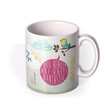 Fantastic Fox and Little Birdy Personalised Name Mug