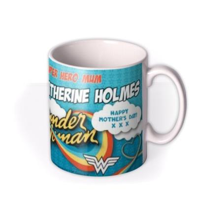 Wonder Woman Superhero Mum Personalised Mug