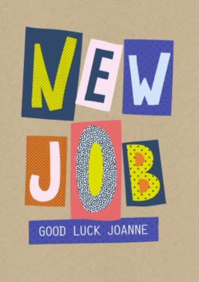 Personalised Good Luck With You New Job Card