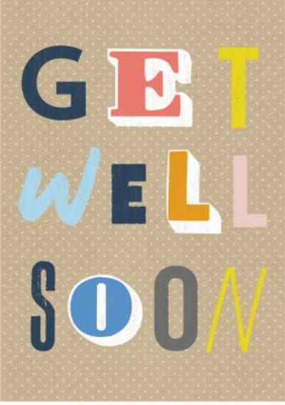 Wordy get well soon card
