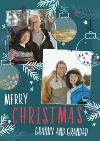 Merry Christmas Granny And Grandad Photo Upload Christmas Card