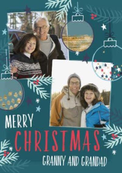 Merry Christmas Granny And Grandad Photo Upload Christmas Card