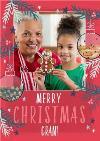 Merry Christmas Gran Photo Upload Christmas Card