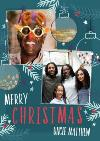 Merry ChristmasUncle Photo Upload Christmas Card