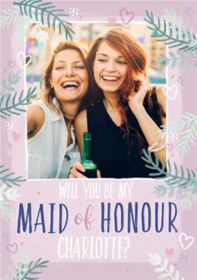 Studio Sundae Will You Be My Maid Of Honour Photo Upload Wedding Card