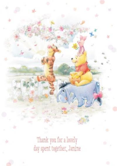 Disney Winnie The Pooh And Friends Day Together Personalised Thank You Card