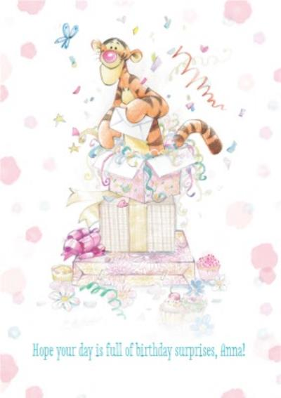 Disney Winnie The Pooh Hope Your Day Is Full Of Surprises Birthday Card