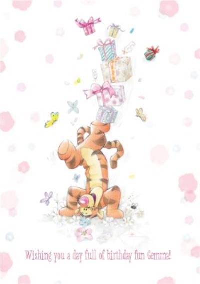 Disney Winnie The Pooh Wishing You A Full Day Of Birthday Card