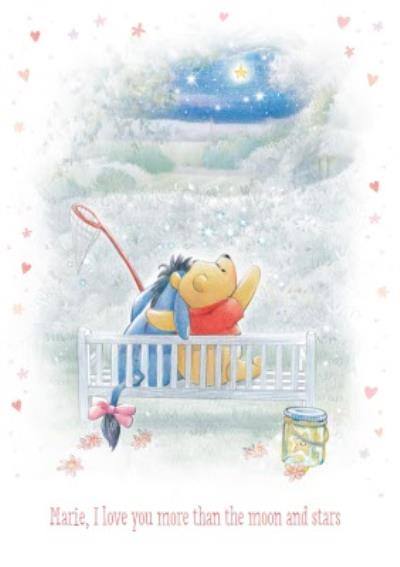 Disney Winnie The Pooh Love You More Than The Moon And Stars Card