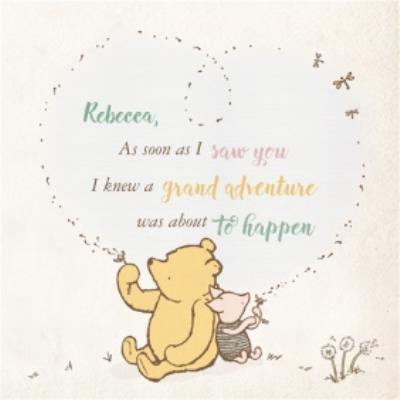 Disney Winnie The Pooh Big Heart Happy Valentines Day Card