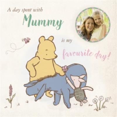 Disney Winnie The Pooh Favourite Day Photo Upload Card