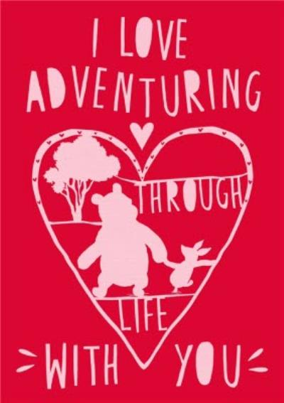 Disney Winnie The Pooh I Love Adventuring With You Valentine's Card