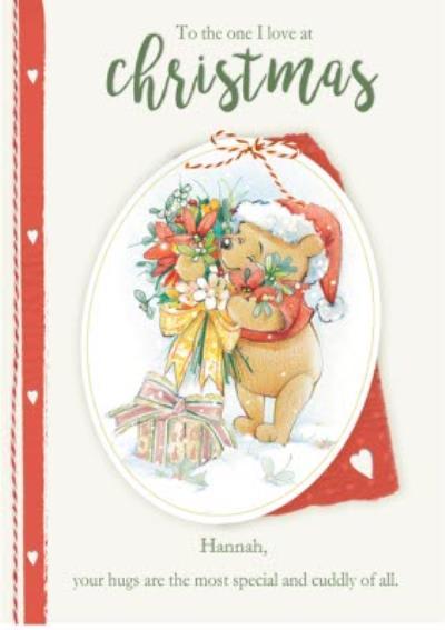 Disney Winnie The Pooh The One I Love Christmas Card