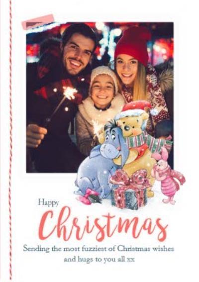 Disney Winnie The Pooh Sending Fuzzies Christmas Card