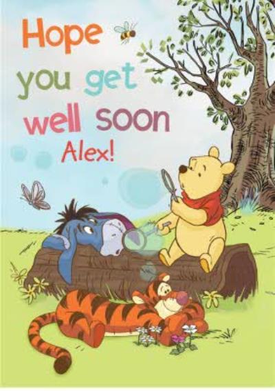 Winnie The Pooh - Get well soon Card