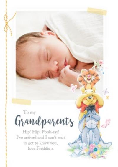 New Baby announcement Card - to the Grandparents - Winnie The Pooh