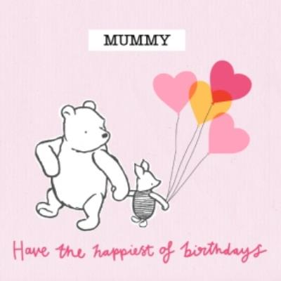 Disney Winnie The Pooh Happiest Of Birthdays Card For Mum