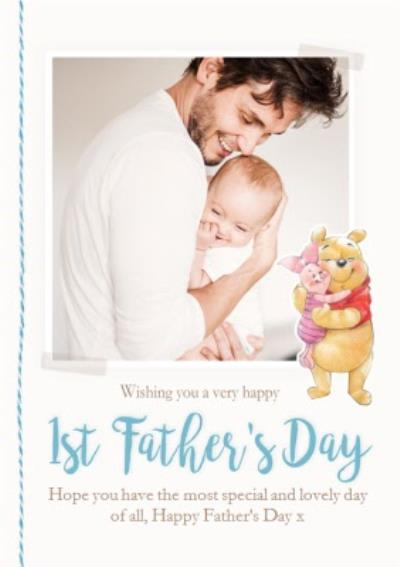 Disney Winnie The Pooh Happy First Father's Day Photo Card