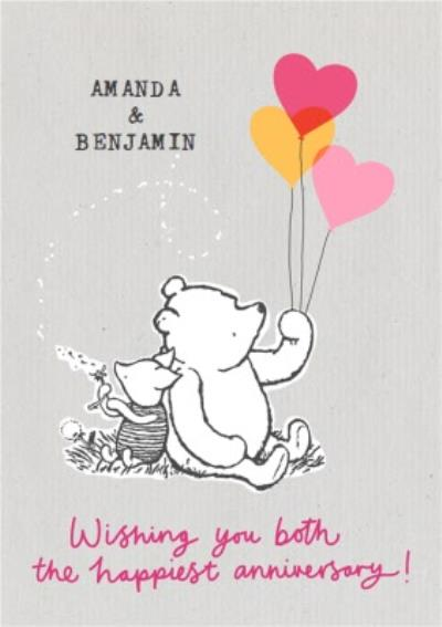 Winnie The Pooh classic - The Happiest Anniversary
