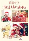 Winnie The Pooh Photo Upload Christmas Card First Christmas