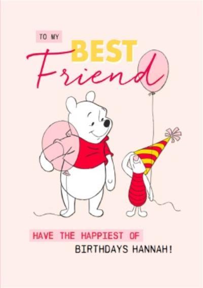 Disney Winnie The Pooh Best Friend Birthday Postcard