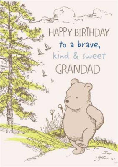 Disney Winnie The Pooh Grandad Birthday Card