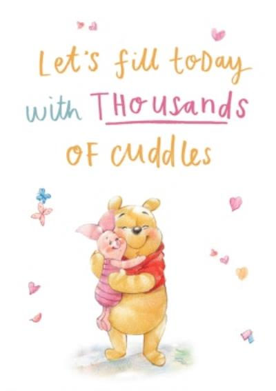 Winnie The Pooh Thousands Of Cuddles Anniversary Card