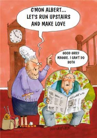 Lets Make Love Cartoon Card