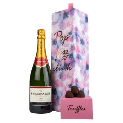 Exclusive Personalised Gauthier Champagne Floral Gift Set