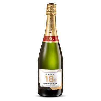 18th Birthday Personalised Champagne 75cl
