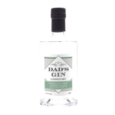 Dad's Personalised London Dry Gin 70cl