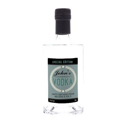 Birthday Edition Personalised Vodka 70cl