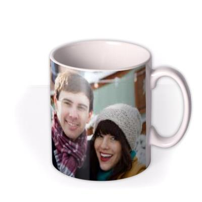 Merry Christmas Brown Tag Photo Upload Mug