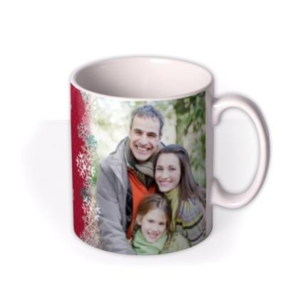 Christmas Greetings Gift Tag Photo Upload Mug