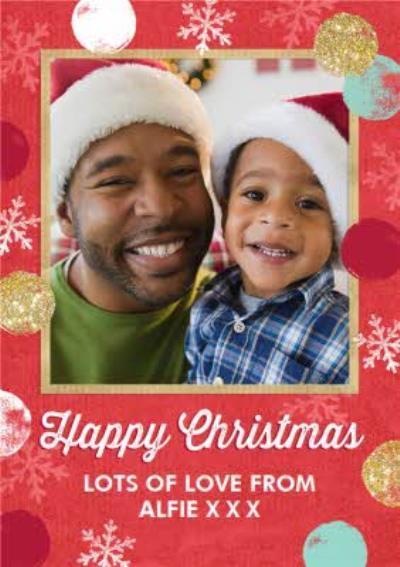 Snowflakes Happy Christmas Photo Card