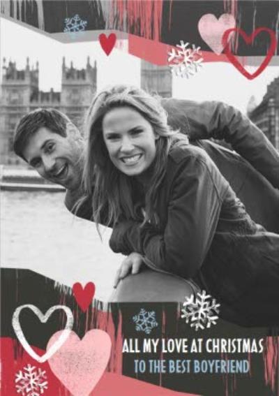 To Boyfriend City Scene Photo Upload Christmas Card