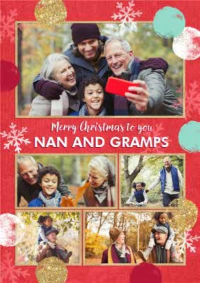 Wrapped Up Photo Upload Christmas Card Merry Christmas To You Granny And Gramps