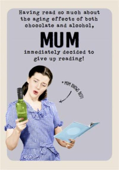 Mother's Day Card - Funny Card - Chocolate and Alcohol