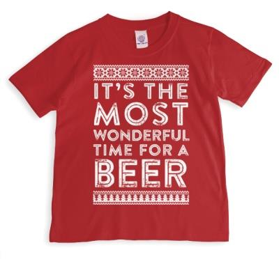 Merry Christmas Time For A Beer T-shirt