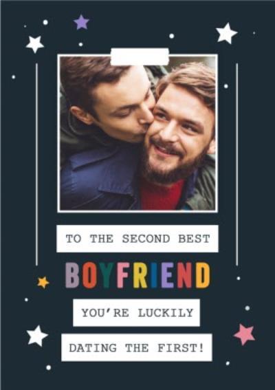 You Are Golden Boyfriend LGBTQ Valentines Photo Upload Card