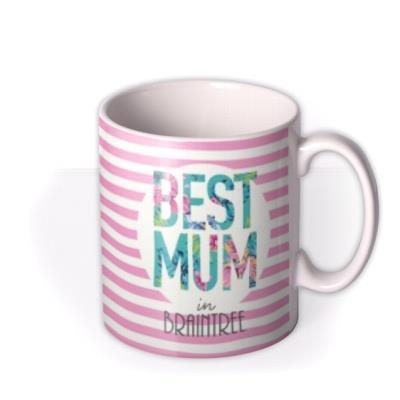 Pastel Best Mum In Personalised City Custom Mug