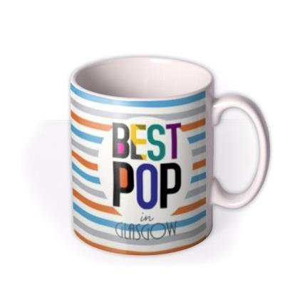 Stripes Best Pop In Personalised City Custom Mug