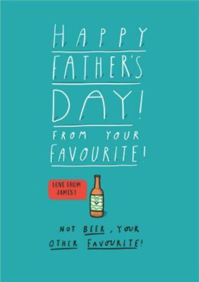 Father's Day Card - Father's Day - Beer