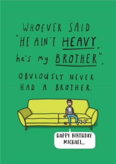 Personalised Birthday Cards For Your Brother Moonpig