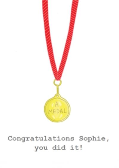Customisable Medal Funny Congratulations Card